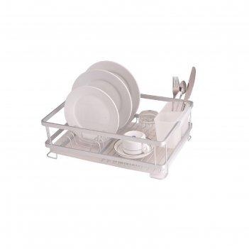 Сушилка для посуды bianka, алюминий, 42 х 30 х 13 см