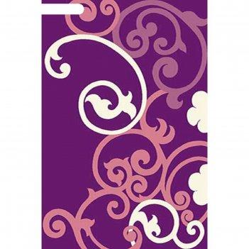 Ковёр карвинг фризе vision deluxe v805, 2,5*5 м, прямоугольный, violet