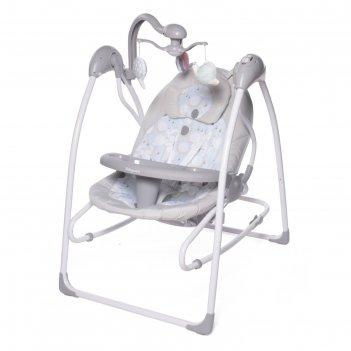 Электрокачели icanfly «улитка», серый, 2в1 с адаптером