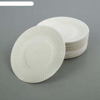 Тарелка белая, д 17 см набор 100 шт