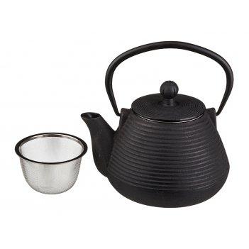 Заварочный чайник чугунный с эмалированным покрытием внутри 1100 мл (кор=8
