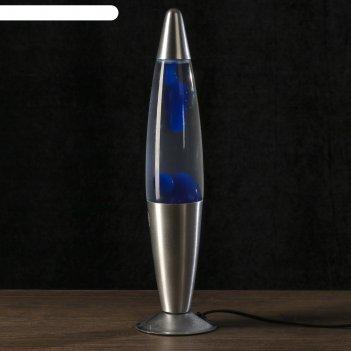 Лава лампа голубые капли