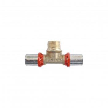 Тройник-пресс tdm brass 1660 3420, 20 х 3/4 х 20 мм, наружная резьба, лату