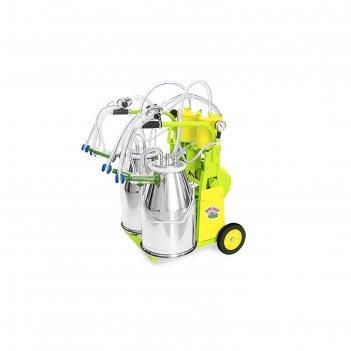 Доильный агрегат, тандем, 25 л, последовательно выдаивает 16-20 коз, силик