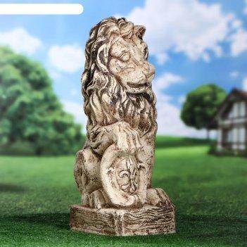 Садовая фигура лев большой 61 см