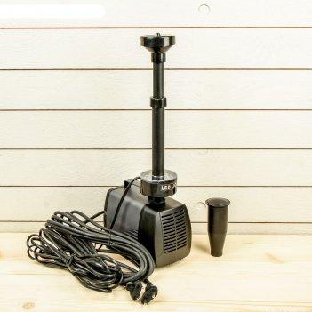 Фонтан для садового водоёма led-7800fp, 75 вт, h = 4 м, 4500 л/ч, led 30 л