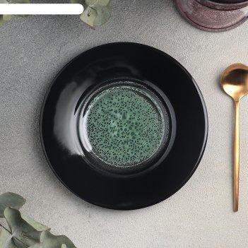 Блюдце универсальное 15 см, h 2 см verde notte