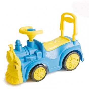 Ор761 каталка-машинка паровозик orion, синий