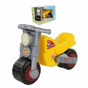 66275 мотоцикл-каталка wader моторбайк желтый в коробке