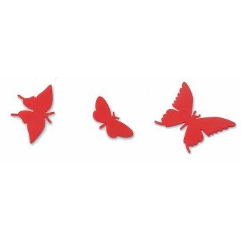 Комплект порхающих бабочек красных 3 шт.