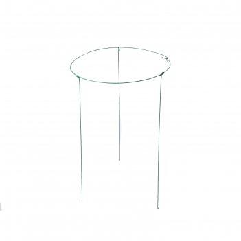 Кустодержатель, d = 69 см, h = 90 см, ножка d = 0,3 см, металл, зелёный