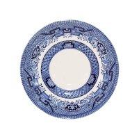 Блюдце «голубая ива», диаметр: 14 см, материал: фарфор, цвет: белый с сини