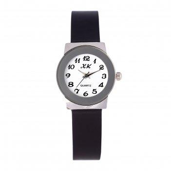 Часы наручные женские ореана, ремешок из экокожи, d=2.5 см, микс