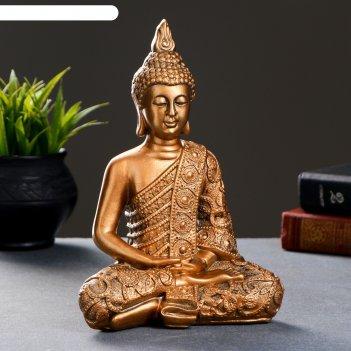 Статуэтка будда малый бронза 24х16х10см
