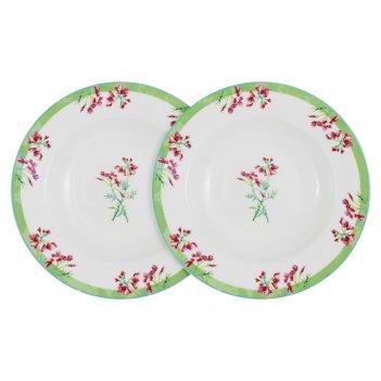 Набор из 2-х суповых тарелок цветущий горошек