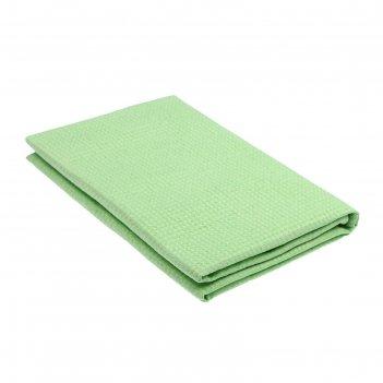 Полотенце вафельное гладкокрашенное, 100х150 см, цвет мята, 160 г/м