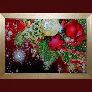 Картина сваровски - новогодняя открытка
