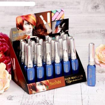 Гель для волос смываемый, с щеточкой, 18 гр, цвет синий