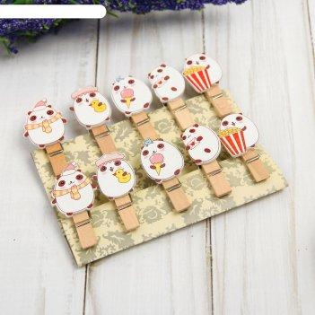 Набор декоративных прищепок мишки  набор 10 шт