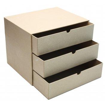 Мини комод из папье-маше с тремя ящиками, 32 х 25 х 25 см