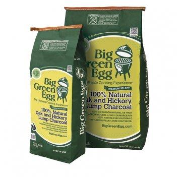 Уголь древесный органический крупнокусковой big green egg (4.5 кг) для сад
