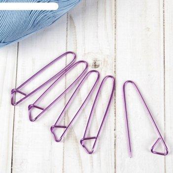 Булавки для вязания вспомогательные 2мм*9см ,( фасовка 5 шт), цвета микс