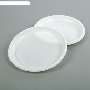 Набор тарелок десертных одноразовых 205 мм, 12 шт., белый