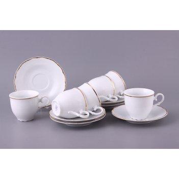 Чайный набор на 6 персон 12 пр. офелия 662 190 мл