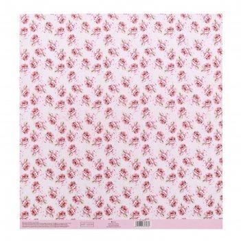 Бумага для скрапбукинга с клеевым слоем «аромат цветов», 30,5 x 32 см, 250