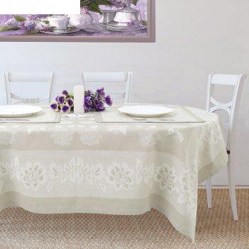 Столовый набор этель елена, скатерть 150х200 см, салфетки 45х45 см-6 шт.