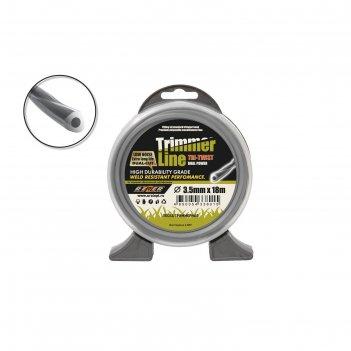 Леска для триммера rezer 03.007.00130, двухкомпонентная, d=3 мм, 25 м, вит