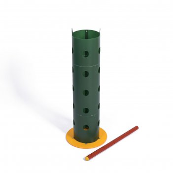 Клумба «цветочная колонна», d = 17 см, h = 70 см, зелёная