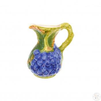 Кувшин orgia виноград синий 2 л, высота 25 см