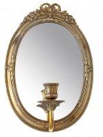 Зеркало настенное возрождение с подсвечником