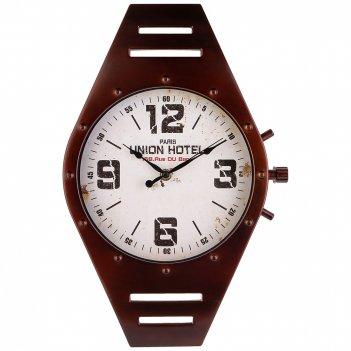 Часы настенные кварцевые watch цвет:черный (кор=6шт.) 41*26 см циферблат 2