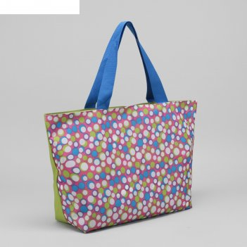 6910 п-600/д сумка пляжная bagamas, 57*12*40, отдел на молнии, салатовый/с