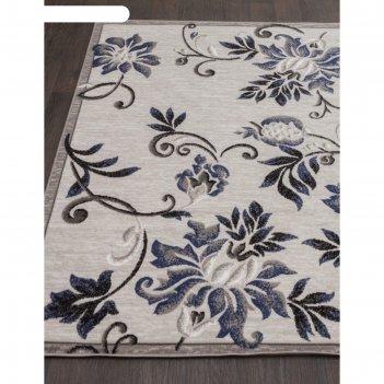 Прямоугольный ковёр silver d353, 200x500 см, цвет gray