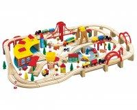 Конструктор железная дорога, 145 деталей