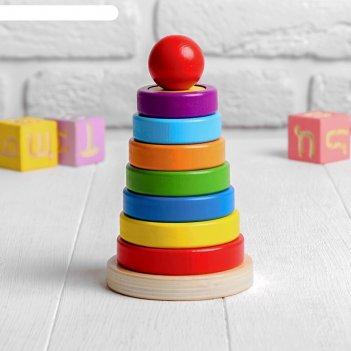 Развивающая пирамидка разные фигуры внутри 10х10х16,5 см