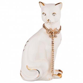 Статуэтка кошка с цепочкой 13*11см, высота=25см (кор=9шт.)