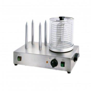 Мармит gastrorag hdw-04, 800 вт, электрический, 4 штыря для булочек d=15 м