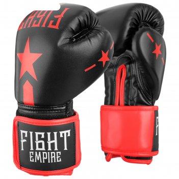 Перчатки боксерские, детские, 4 унций, цвет черный