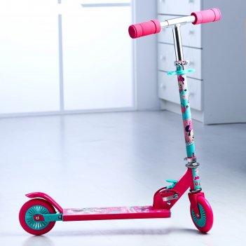 Самокат детский минни маус, колеса pvc d=120мм