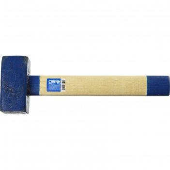 Кувалда сибин 20133-4, с деревянной удлинённой рукояткой, 4 кг