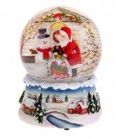 Сувенир снежный шар зимний пейзаж музыкальный
