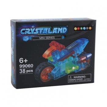 Конструктор crystaland мини мотоцикл, 38 деталей