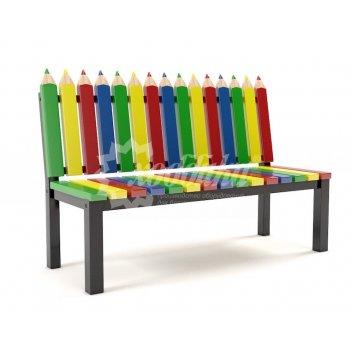 Скамейка для детских площадок «палитра»