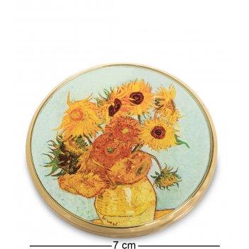 Pr-m07go зеркальце подсолнухи ван гог (museum.parastone)