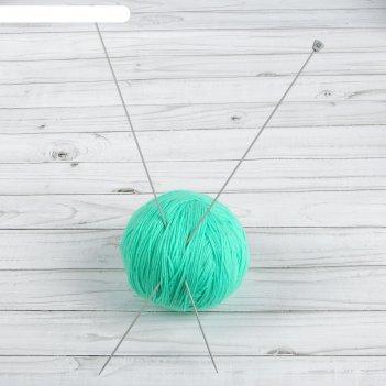 Спицы для вязания, прямые, с тефлоновым покрытием, d = 2 мм, 35 см, 2 шт
