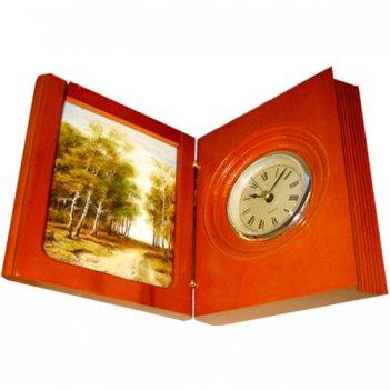 Часы-книжка, финифть